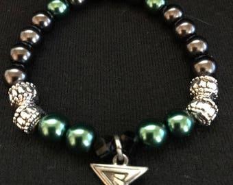 Arrow inspired bead bracelet