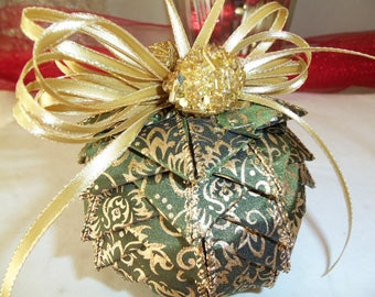 Ribbon Ball Ornaments