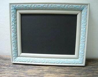 men's blue and Grey Slate frame