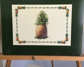 Vintage Pineapple Placemats: Welcome and Hospitality!