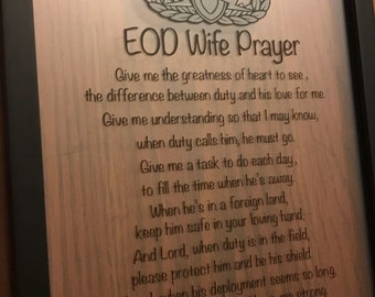 EOD Wife Prayer, Framed