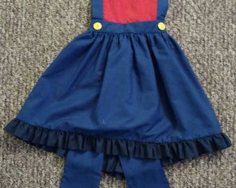 Child's Mario Bros Inspired Costume Penifore Apron