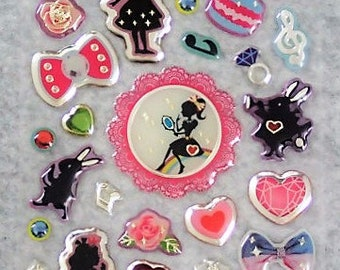 Mixed Cute PVC Alice In Wonderland Stickers - AIW04