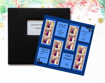 Blue Photo Booth Guest Book