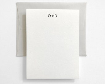 Custom Letterpress Stationery - Personalized Couples Stationery - Classic Design - Marais
