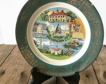Washington D.C. Souvenir Vintage Plate Homer Laughlin
