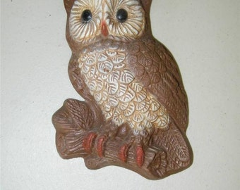 Vintage Owl Wall Hanging Decor 12743 Sculpture