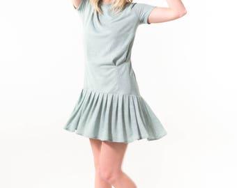 Pleated Seafoam Dress