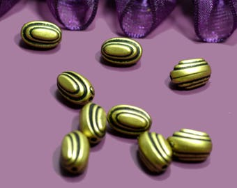 Olives 12x05mm bronze resin beads