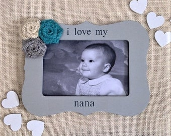 Nana gift Mothers day gift for nana picture frame mothers day gift from granddaughter frame