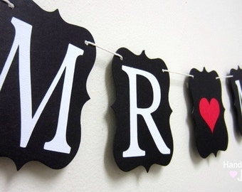 Mr. & Mrs. wedding banner - Made to Order