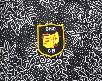 Vintage Ohio CB Radio Embroidered Patch. 70s Or 80s Rare Ohio State Patch For CB Ham Radio Users. Rare Collectible Ohio Patch