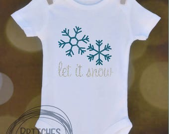 Let It Snow // Baby Apparel, Toddler Shirts, Trendy Baby Clothes, Cute Baby Clothes, Baby and Toddler Clothes