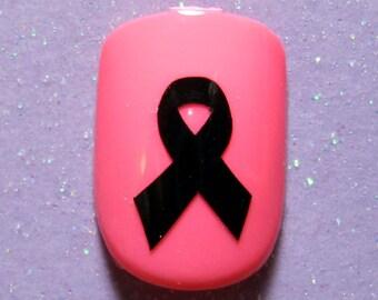 Cancer awareness ribbon vinyl nail decals, cancer gifts, cancer survivor gift
