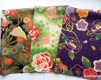 Japanese Fabric - Kimono 3 Fat Quarter Bundle Set - F307