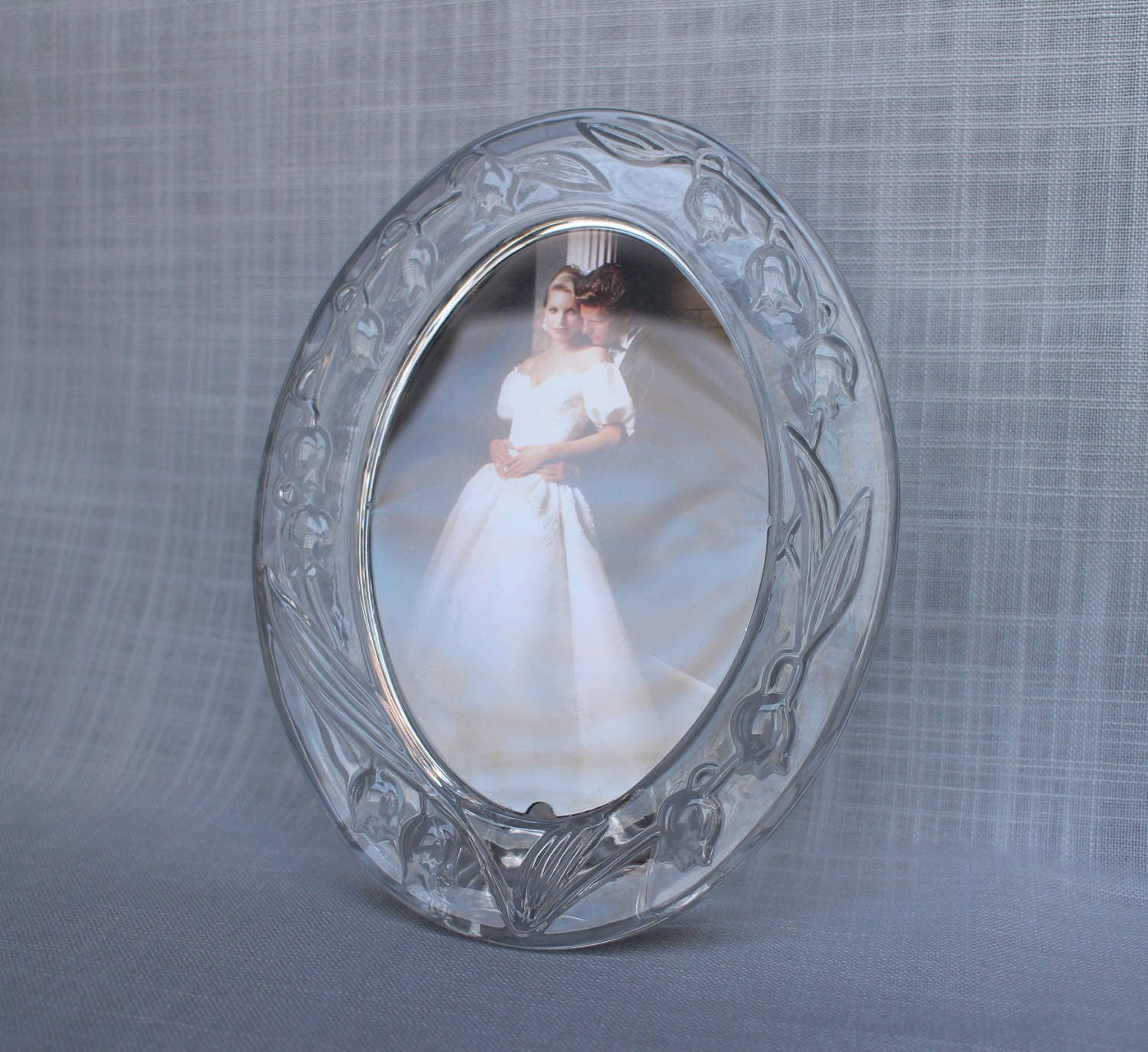 Mikasa Wedding Picture Frame, Bridal Lily Photo Frame, Crystal Glass ...