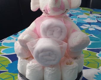 Elephant mini diaper cake