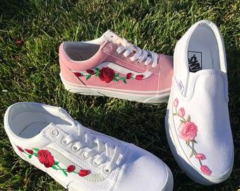 rose print vans