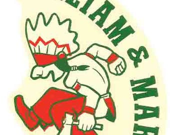 Vintage Style William & Mary University Travel Decal sticker college