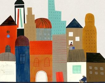Imaginary city big print