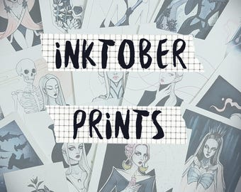 Inktober Prints | Art prints, inktober 2017, wall art,