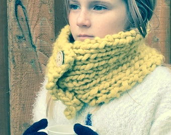 Hand-Knitted Merino Wool Scarf (Super Snuggly)