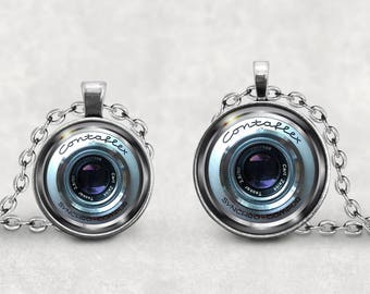 Contaflex Camera Lens Necklace, Camera Lover, Camera Lens Jewelry, Vintage Camera Lens, Photography Necklace, Old Retro Camera, Splendant
