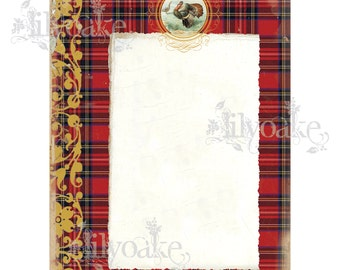 Royal Stewart Tartan Panel Card