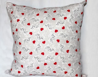 Throw Pillow, Crazy Cat Lady print, Large
