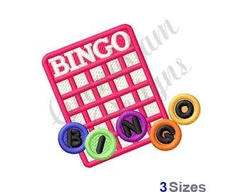 Bingo Card - Machine Embroidery Design
