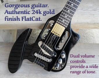 Modified Travel Guitar - FlatCat™ hand-made pickup!