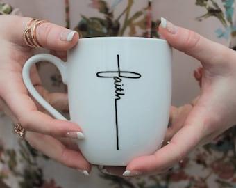 christian mug, cute mug, cute mugs, christian, scripture mugs, mug scripture, faith, calligraphy, calligraphy scripture, 12oz mug, cute
