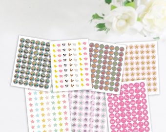 """Potty Chart Stickers, Refill Stickers, Additional Potty Chart Stickers, 1"""" stickers"""
