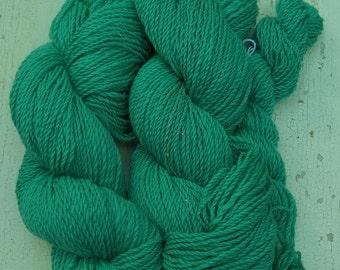 Hand Spun Yarn 530 Yards Merino Silver Angelina Sparkle