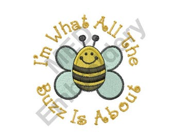 Bee - Machine Embroidery Design, Bumble Bee