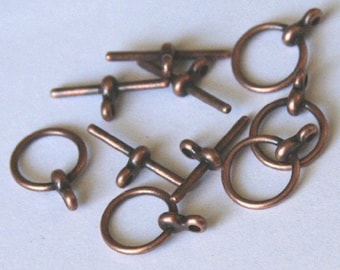 50 sets of Antiqued copper Toggle clasps