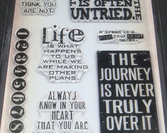"Tim Holtz Stampers Anonymous- Clear Stamps - ""Phrases 2"""