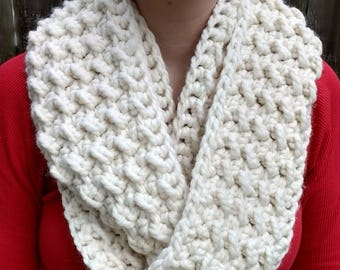 Fluffy Clouds Infinity Scarf - CROCHET PATTERN ONLY!