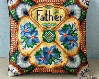 Father's Day Mini Cushion Cross Stitch Kit