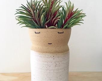Ceramic Vase, Dad Gift, Groom Gift, Fathers Day, Pottery Vase, Flower Vase, Tall Vase, Open Minded Vase