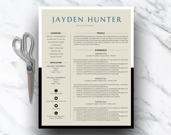 Curriculum Vitae | Clean Resume Template | Modern Resume Template for Word | Resume Template Instant Download | Modern Resume Design | CV