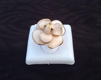 Milky pink handmade ring