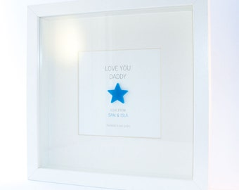 LOVE YOU DADDY Personalised Framed Message