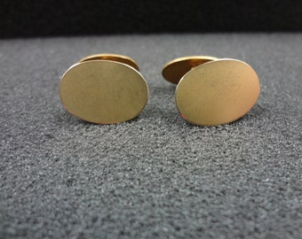 b001 Vintage Double sided Cuff links in Gold Tone Finish