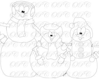 Digital Stamp Snow Buddies