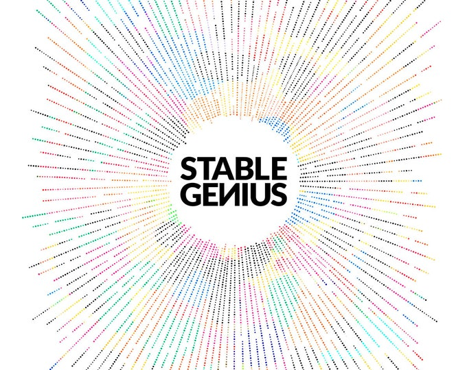 Stable Genius - Multicolored - Humorous - Typography - Modern Wall Art