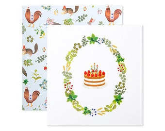 Chiffon Cake Birthday Card