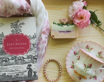 Jane Austen inspired-Tea at Pemberley soap, natural cold process, body butter bar, moisturizing soap. book club, pride & predjudice