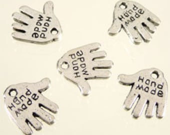 5 charms hand made 13x11