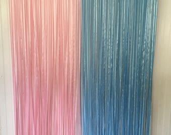 Gender Reveal Decorations, Gender Reveal Backdrop, Baby Shower Backdrop, baby shower decorations, Ribbon backdrop, Ribbon curtain